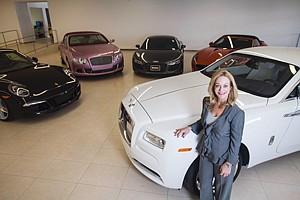 Making In-Roads: Victoria Rusnak at Rusnak Auto Group dealership in Pasadena.