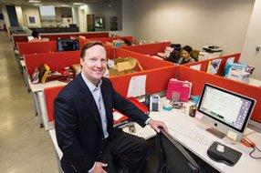 New Image: Chief Exec Stuart McLean at Content & Co.'s West L.A. office.