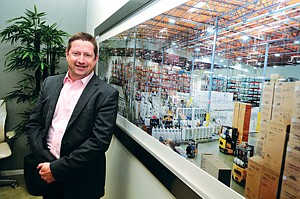 Business Cycle: Chief Executive Adam Coffey at Wash Multifamily Laundry Systems' headquarters in El Segundo in April.