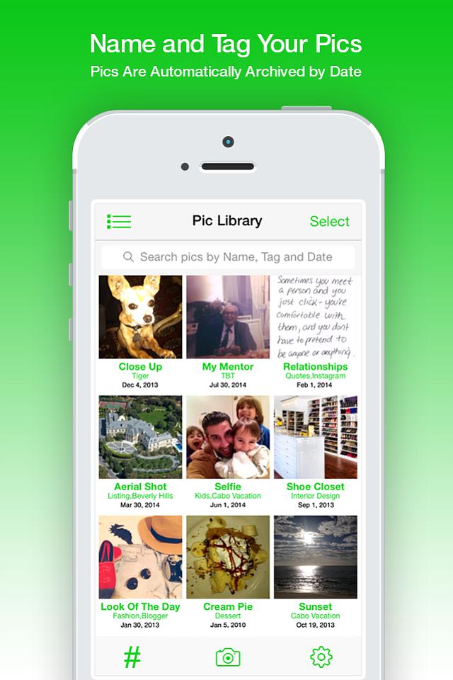 (Screenshot of photo-tagging app QuickPics.)