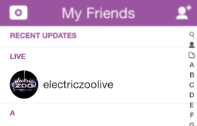 "Snapchat's ""Live"" section is debuting with updates from New York's electronic music festival Electric Zoo."