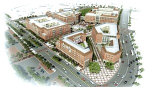 Development: Rendering of South L.A.'s Village at USC.