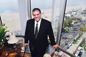 Looking Up: Cappello Global Chief Executive Alexander Cappello at his office in Santa Monica in January.