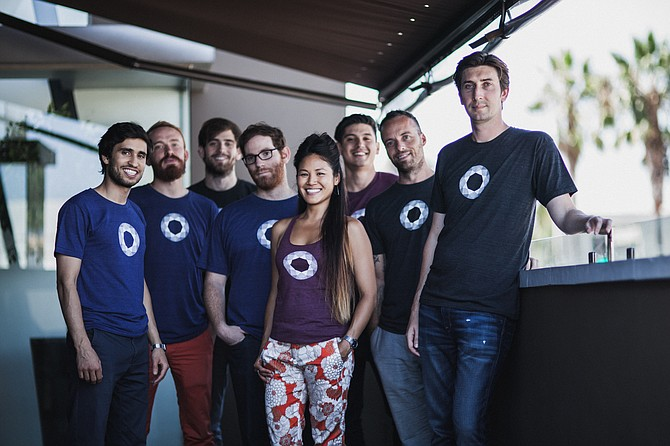 Gem's eight-person team secures Bitcoin transactions through its wallet platform. The startup operates out of Venice. (Courtesy Gem)