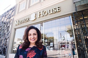 Under Skin: Elizabeth Solomon, manager of Mayfair House, at the West Hollywood store.