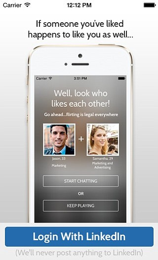 Mobile dating app BeLinked uses your LinkedIn profile to find potential matches. (Courtesy BeLinked)