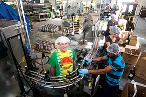 Pouring It On: Reed's Chief Executive Chris Reed at the drink maker's factory in the unincorporated area of Rosewood.