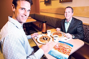 Fill 'Er Up: Darrin Kellaris, left, and Kirk Thompson at IHOP's Glendale kitchen.