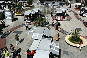 Shopping Around: Babylon Court kiosks at Hollywood & Highland in 2013 photo.