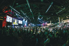 Shooting Stars: The Major League Gaming Championship in Anaheim features Call of Duty and other games.