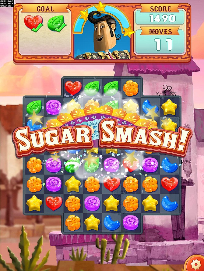 Mobile game Book of Life: Sugar Smash will launch in conjunction with 20th Century Fox's new animated film. (Courtesy SGN)