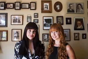 It's a Living: Undertaking LA's Caitlin Doughty, left, and Amber Carvaly at Doughty's home in Mid-City.