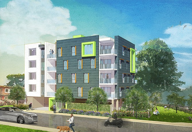 4021 Eighth Ave. Apartment Project. Rendering courtesy of HFF