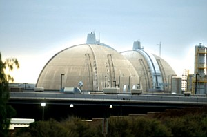Dark Spot: Edison International's shuttered San Onofre nuclear power plant.