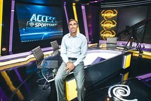 Widening Net: Mark Shuken at Time Warner Cable SportsNet's El Segundo studio.