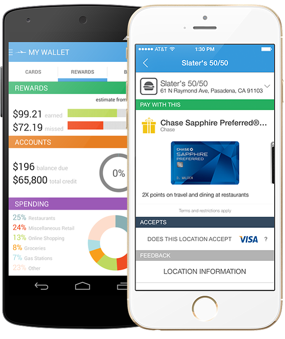 TPG To Go, an app from Wallaby Financial and ThePointsGuy.com, helps users optimize their credit card use to maximize travel points. (Courtesy Wallaby Financial)