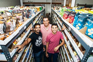 Outside Box: Siddhartha, left, Lovelace and Green at Thrive Market in Culver City.