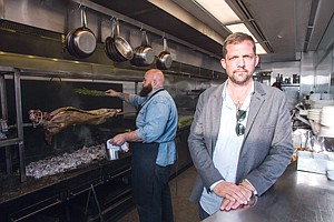 Hot Topic: Owner Ed Keebler at Italian restaurant Bucato on the Culver City side at the Helms Bakery District complex.