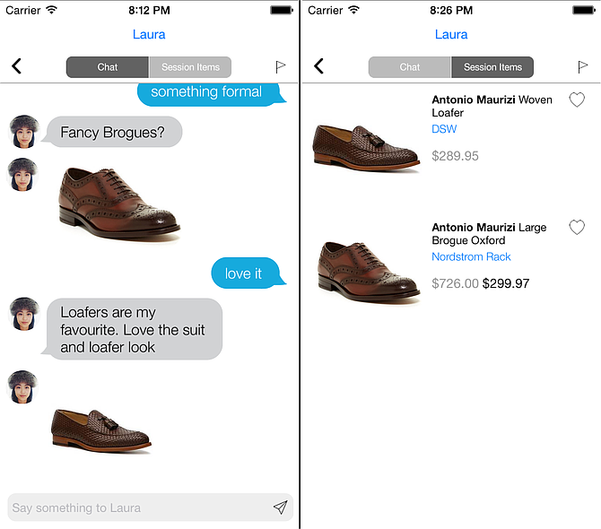 Virtual mall app Dressli wants you to shop with friends through private chats. (Courtesy Dressli)