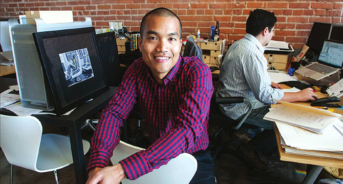 Sounding Off: Darius Fong at music app WeeSpin's headquarters in Culver City. Photo by Ringo Chiu.