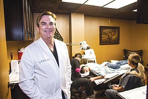 Manned Up: Plastic surgeon Dr. Grant Stevens at his Marina ManLand center in Marina del Rey that caters to men.