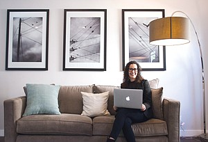 Making Connections: Lisa Woods at cause marketing specialist GroundSwell Group's office in West Los Angeles.