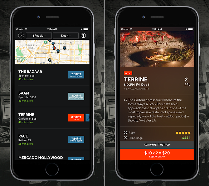Resy helps you make last-minute reservations, even when restaurants say they're booked. (Courtesy Resy)