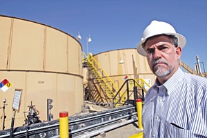 Over Barrel: Chief Executive Hal Washburn of BreitBurn Energy Partners at the oil company's facility in Sawtelle in 2010.