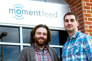 Photo Focus: Murray, left, and McKenna at MomentFeed's office in Santa Monica.