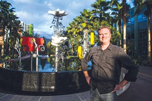 Making Online Play: Scott Humphries, Disney Interactive executive producer and production leader for the Frozen Free Fall game, at Disney's headquarters in Burbank.
