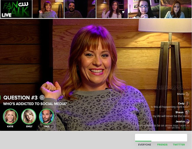 A CW fan talk hosted on Smiletime's interactive video player. (From Smiletime)