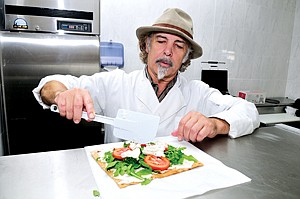 Spreading Out: Youssef Fakhouri at his vegan shop Vromage in West Hollywood.
