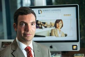 Direct Lending's Brendan Ross at his home office in December 2013.
