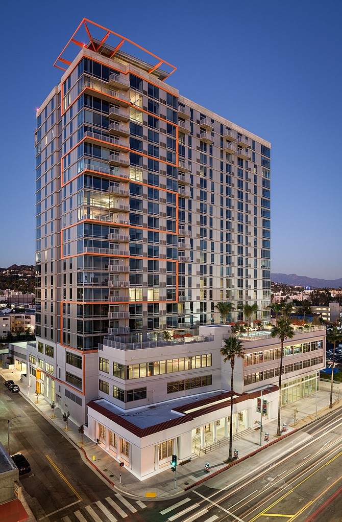 Sunset and Gordon apartments, Los Angeles -- Photo courtesy of Balfour Beatty Construction