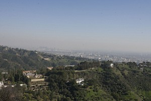 Top of the World: Panoramic view from Vineyard Beverly Hills property.