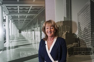 Real Estate-Focused: President Mary Leslie at the Los Angeles Business Council's headquarters in Century City.
