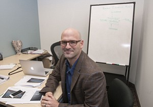 Closing In: Dr. Noah Craft, who uses Direct Dermatology telehealth services, at his office in Palms.