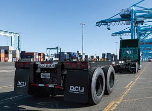Driving Issue at Ports: Truck chassis.