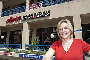 Full Plate: Madelyn Alfano, who supports a state proposal to exempt tipped staff from minimum-wage hikes, at Maria's Italian Kitchen in Marina del Rey.