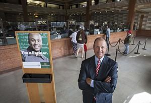 Daniel Walker at Farmers & Merchants Bank in Long Beach in an April 2013 photo.
