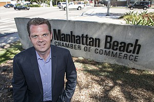 Putting Kids to Test: CEO James O'Callaghan at Manhattan Beach Chamber of Commerce.