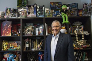 Character Driven: Gill Champion, who Stan Lee calls 'the brains behind the outfit,' at Pow Entertainment in Beverly Hills.