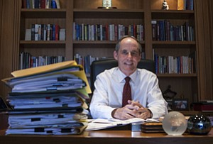 Two Decades: Tom Priselac in his office at L.A.'s Cedars-Sinai Medical Center.