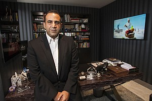 Planting Flags: SBE Entertainment Group Chief Executive Sam Nazarian at the hotelier's headquarters on Miracle Mile.