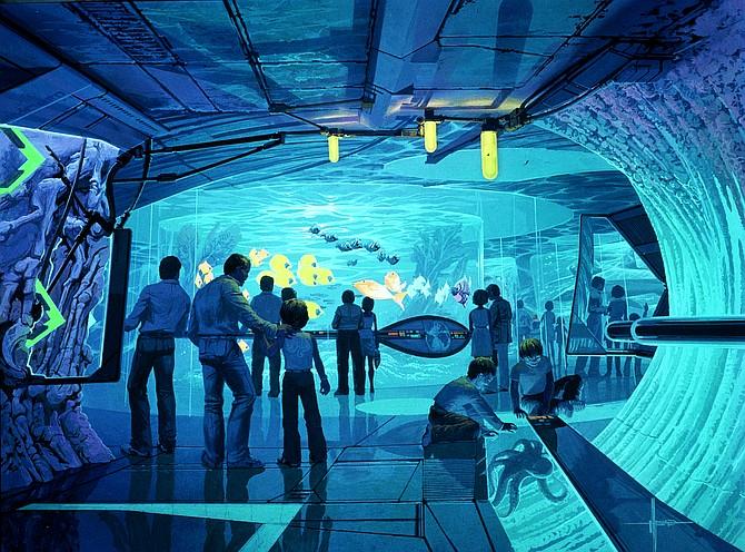 Conceptual drawing of Landmark's virtual aquarium