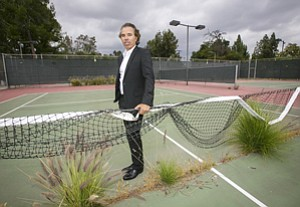 Developer Shawn Evenhaim at Fallbrook Avenue fitness center, closed for five years.