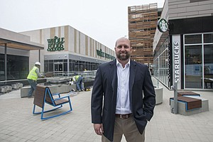 Taking Off: Lincoln Property's Chris Daniell at the Runway retail complex in Playa Vista.