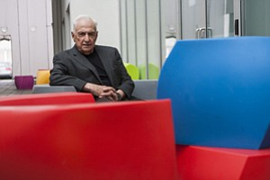 Frank Gehry, who will receive the J. Paul Getty Medal in September, at Gehry Partners in Play Vista.