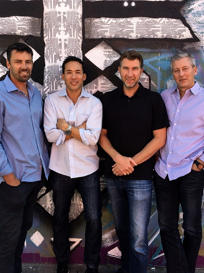 CrossCut Ventures' Managing Directors, left to right: Brian Garrett, Clinton Foy, Brett Brewer and Rick Smith