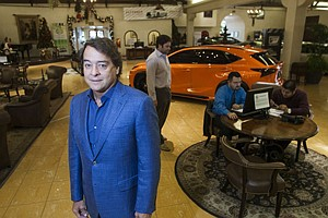 'Down to Grocery Store Margins': Owner Mike Sullivan at his L.A. Car Guy Lexus dealership in Santa Monica.